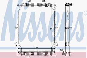 Радиатор охлаждения IVECO EUROTECH E.42 95- Nissens 61971A 503422583