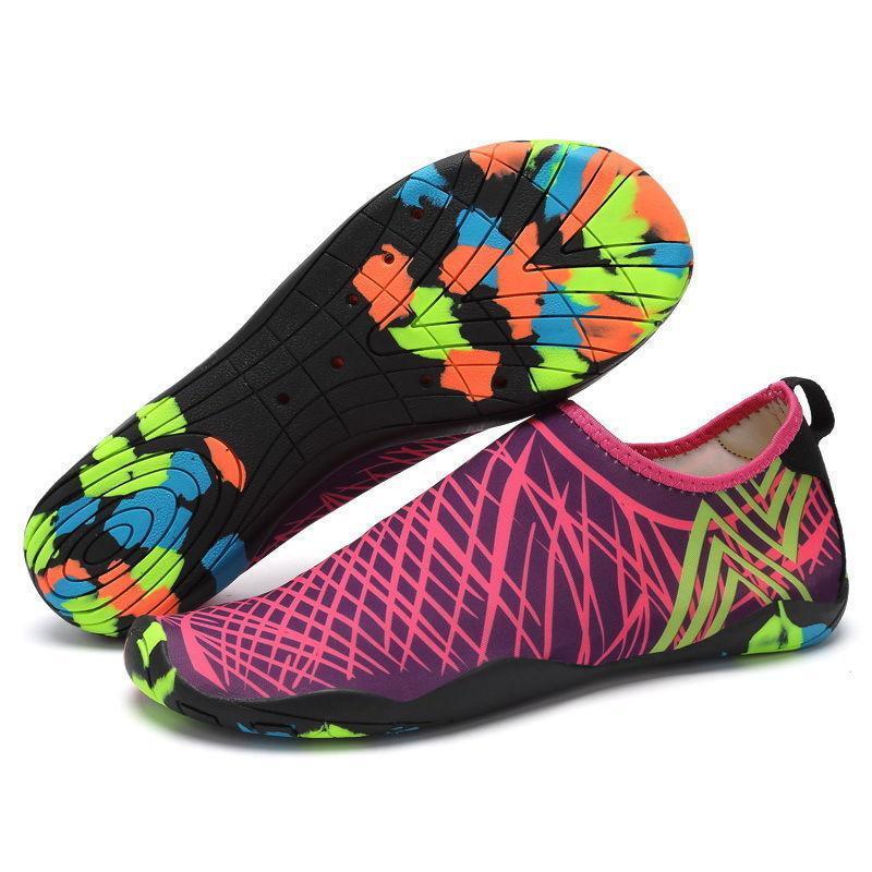 Взуття для пляжу і коралів Diving shoes рожеві смужки 39 (250mm) as339rs exp