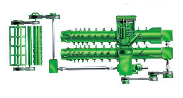 Схема МСУ зерноуборочного комбайна John Deere серии CTS