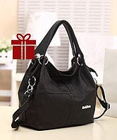 Кожаная женская сумка на плече Weidipolo в 3 цветах ! Черный