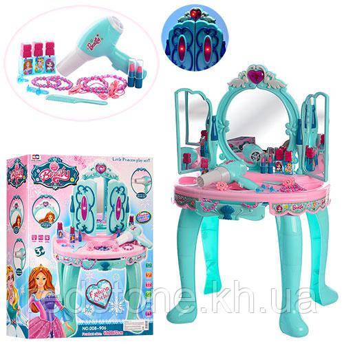 Детское трюмо 008-906 Little Princess (муз,св, фен, аксессуары, на бат-ке, в кор-ке)