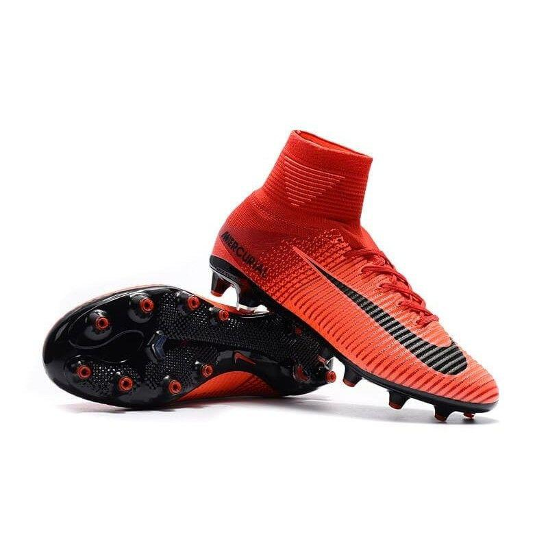 Mens Soccer Cleats Shoes NIke Mercurial Superfly V FG Lime Green Pink Black NIKE ND007901