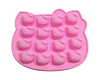Форма силиконовая  для конфет Hello Kitty