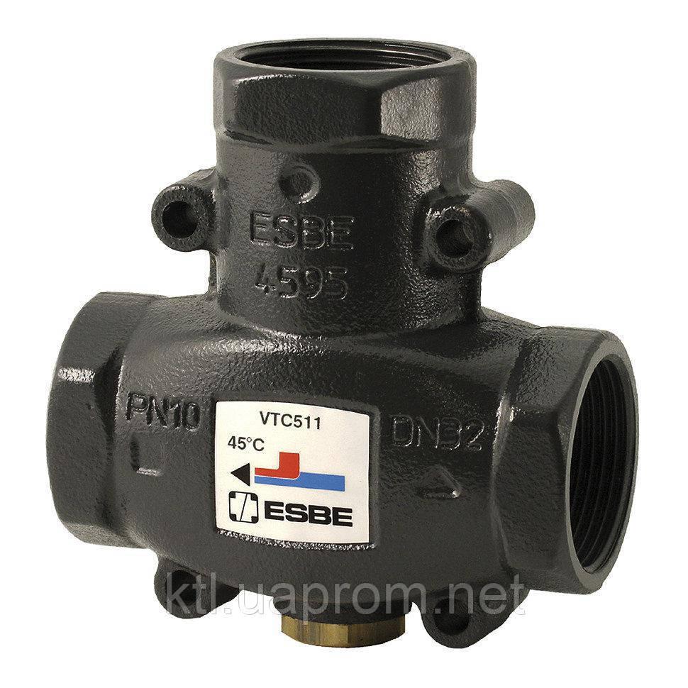 """Термостатический смесительный клапан ESBE VTC511 DN32 1 1/4"""" 55°С"""