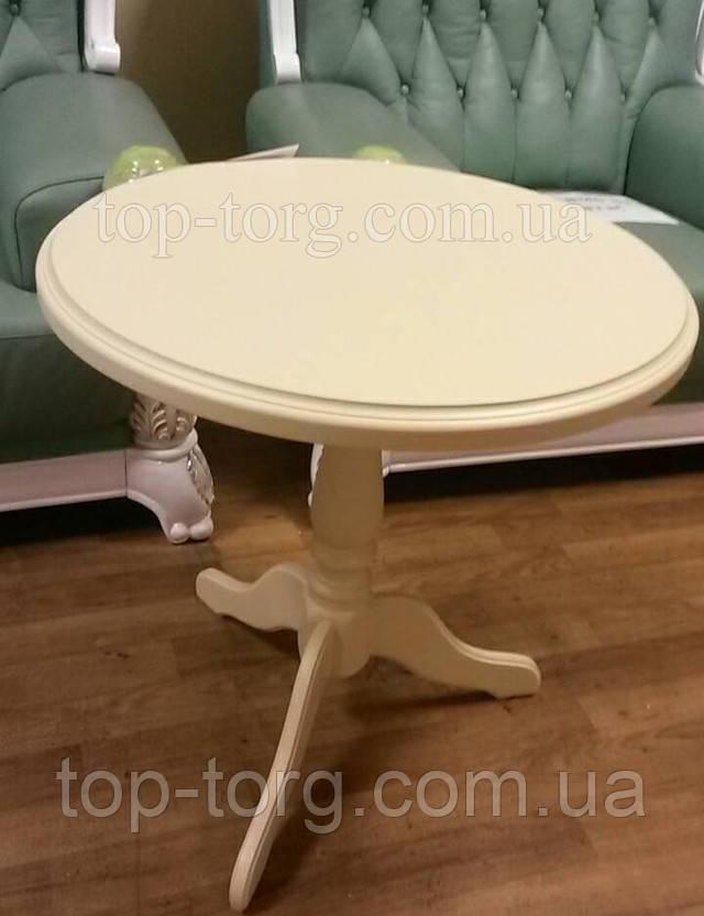 Круглый кофейный столик Стелла Одиссей беж бежевый фото купить