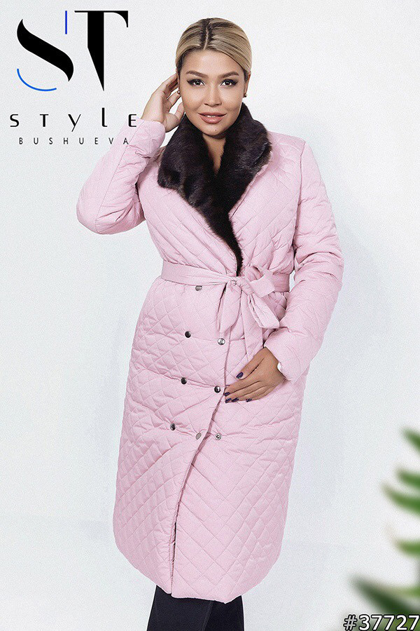 Удлинённое пальто с мехом