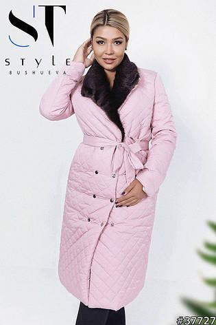 Удлинённое пальто с мехом , фото 2