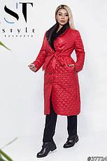Удлинённое пальто с мехом , фото 3