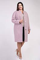 Красивое пальто из кашемира нежно-розового цвета