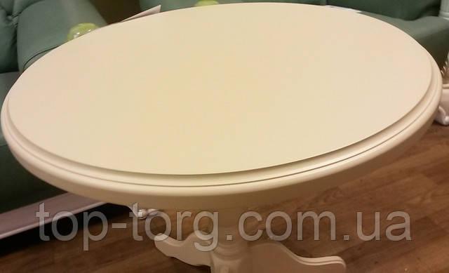 Столешница. Круглый кофейный столик Стелла Одиссей беж бежевый фото купить