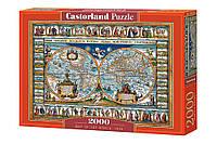 """Пазлы 2000 элементов - """"Карта мира, 1639"""" Быстрая доставка Производство Польша Гарантия качества."""