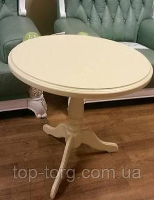 Стол кофейный круглый Стелла Одиссей. Белый, ванильный, бежевый
