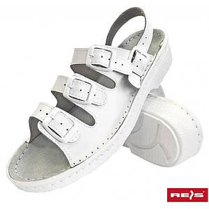 Медицинская обувь BMRKLA4PAS W с противоскользящим протектором, белого цвета. REIS