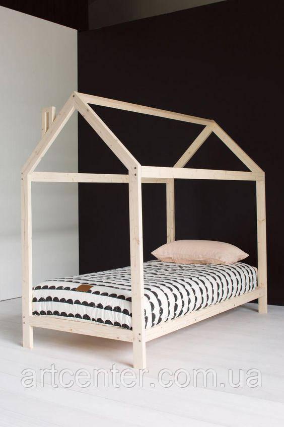 Кроватка-домик деревянная без бортиков