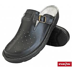 Медицинская обувь BMRKLADZ B с противоскользящим протектором, черного цвета. REIS