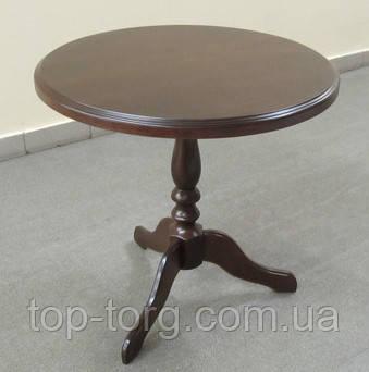 Стільниця. Круглий кавовий столик Стелла Одіссей горіх, фото купити
