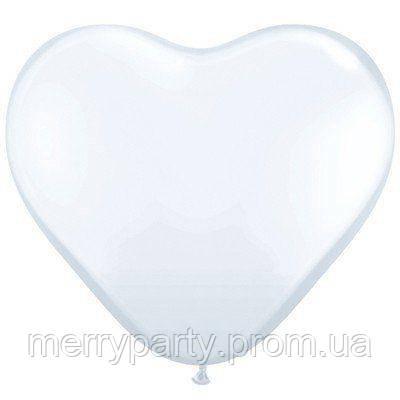 """5"""" (12 см) Сердце пастель белый Gemar Италия шар латексный"""
