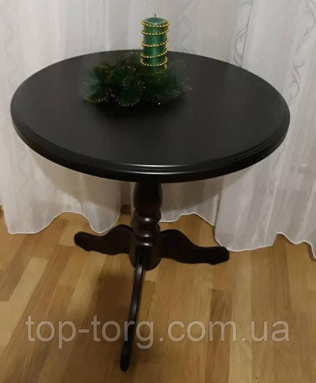 Стільниця. Круглий кавовий столик Стелла Одіссей венге, чорний, фото купити