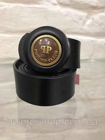 Кожаный женский пояс ремень  PhilippPlein , фото 2