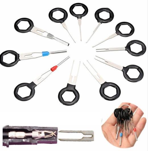 Экстрактор пинов, контактов из разъемов, колодок (11 съемников в наборе)
