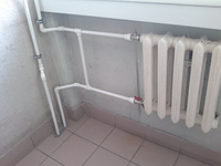 Перезапитка труб отопления в стояке