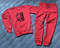 Спортивный костюм без молнии Vans красный топ реплика