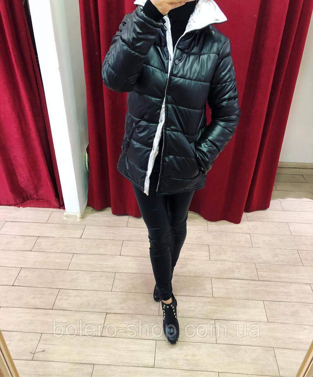 Куртка черная на синтепоне  Италия