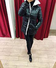097bb950d72 Куртка черная на синтепоне Италия