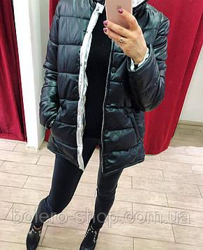 Куртка черная на синтепоне  Италия , фото 2