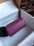 Сумка Дольче Габбана Miss Sicily, натуральная кожа, мини, в баклажановом цвете, фото 7