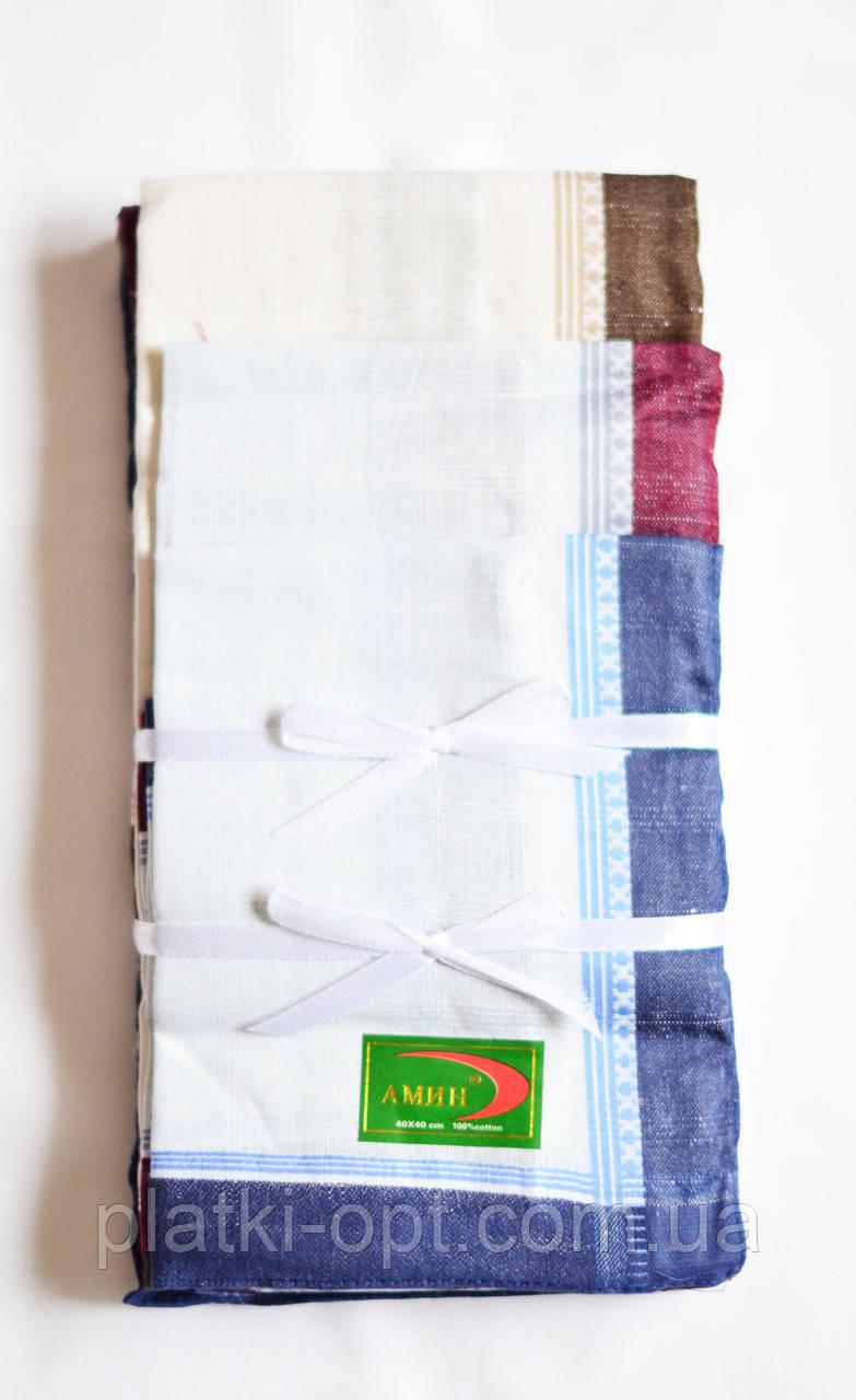 Мужской носовой платок (батист)