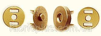 Кнопка магнитная для сумок  18 мм золото