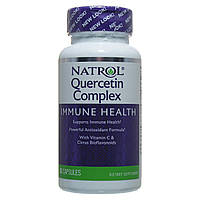 Кверцетин (Quercetin), Natrol, 500 мг, 50 капсул