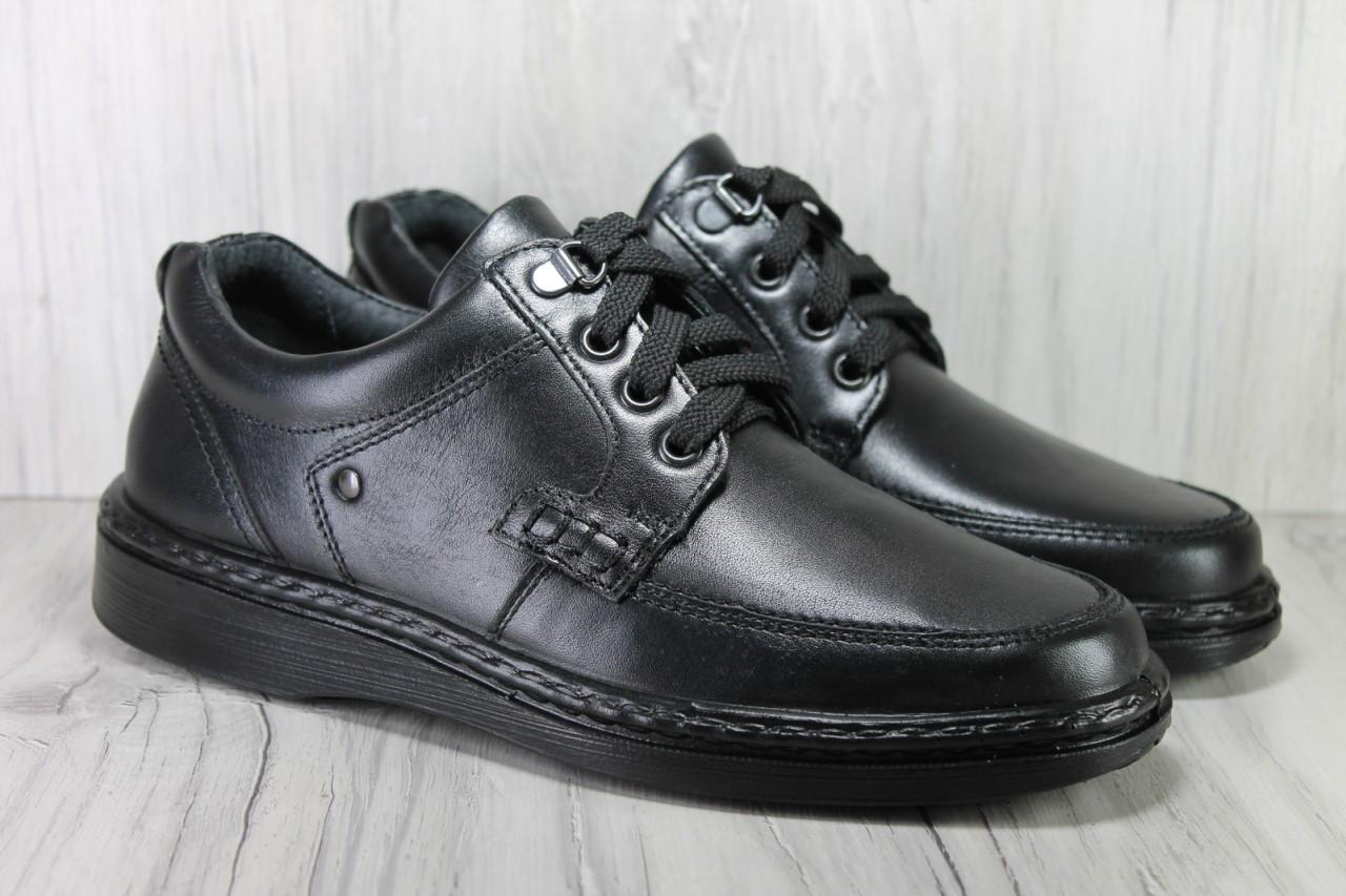 Мужские кожаные лёгкие туфли на шнурках Tigina комфорт