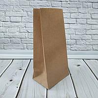 Крафт пакет з плоским дном бурий 190*95*65