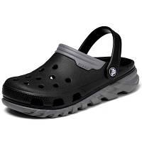 Мужские сабо Crocs Duet Max Clog black-grey