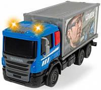 Грузовик для дорожных работ со светом и звуком, Dickie Toys, с контейнером UVEX (374 2008-2)