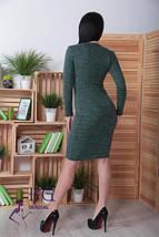 14ba98aaf3a Демисезонное платье средней длины приталенное ангора длинные рукава с пуговицами  черное