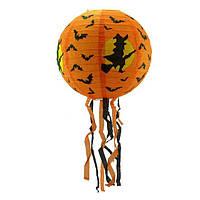 Декор подвесной (30см) оранжевый с летучей мышью
