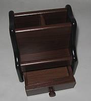 Органайзер, подставка офисная, для канцтоваров дерево №JS 8033, фото 1