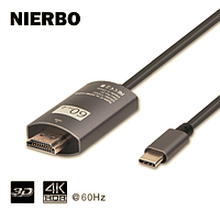 USB кабель 3.1 Type-C HDMI 4 К * 2K 60 Гц для MacBook Pro DELL, samsung Galaxy (размер 2m )