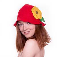 """Банная шапка Luxyart """"Дюймовочка"""", натуральный войлок, красный (LA-081)"""