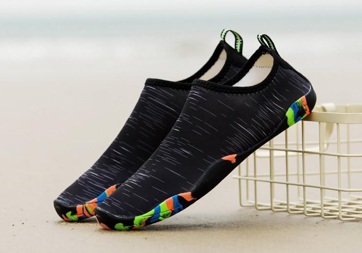 Обувь для пляжа и кораллов Diving shoes черные 40 (255mm)