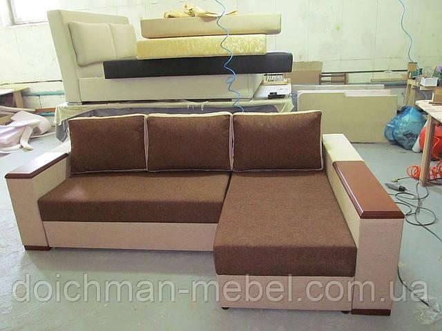 Угловой диван и кресло, мягкая мебель для дома