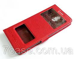 Чехол книжка с окошками momax для Nokia 3.1 красный