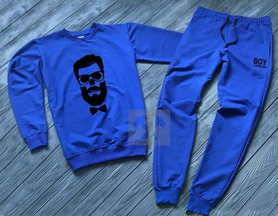Спортивный костюм без молнии Boy London синий топ реплика, фото 2