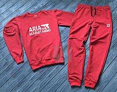 Спортивный костюм без молнии Aria красный топ реплика