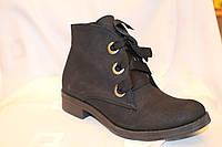 Стильні жіночі черевики з ленточним шнурком