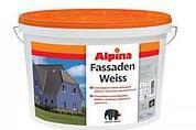 Краска в/д Alpina фасадная Fassadenweiss B1 10 л