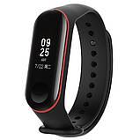 Силиконовый ремешок Primo для фитнес-браслета Xiaomi Mi Band 3 - Black&Red, фото 2